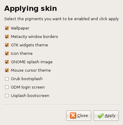 0.1p3 apply: Applying skin